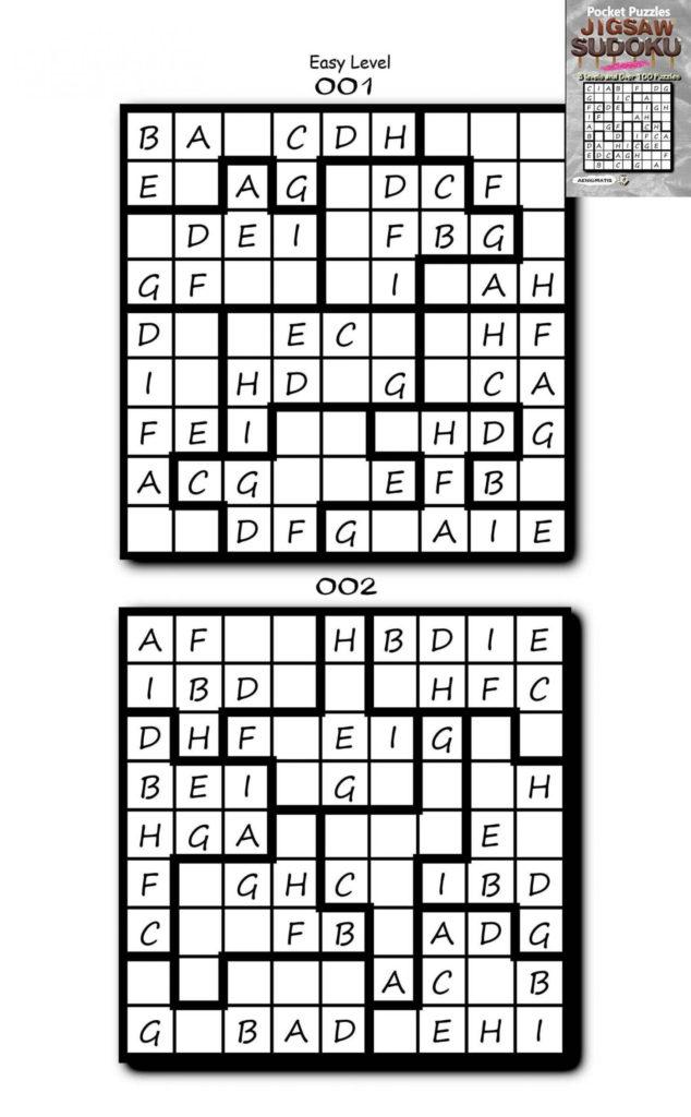 Easy Jigsaw Sudoku Printable Sudoku Printable