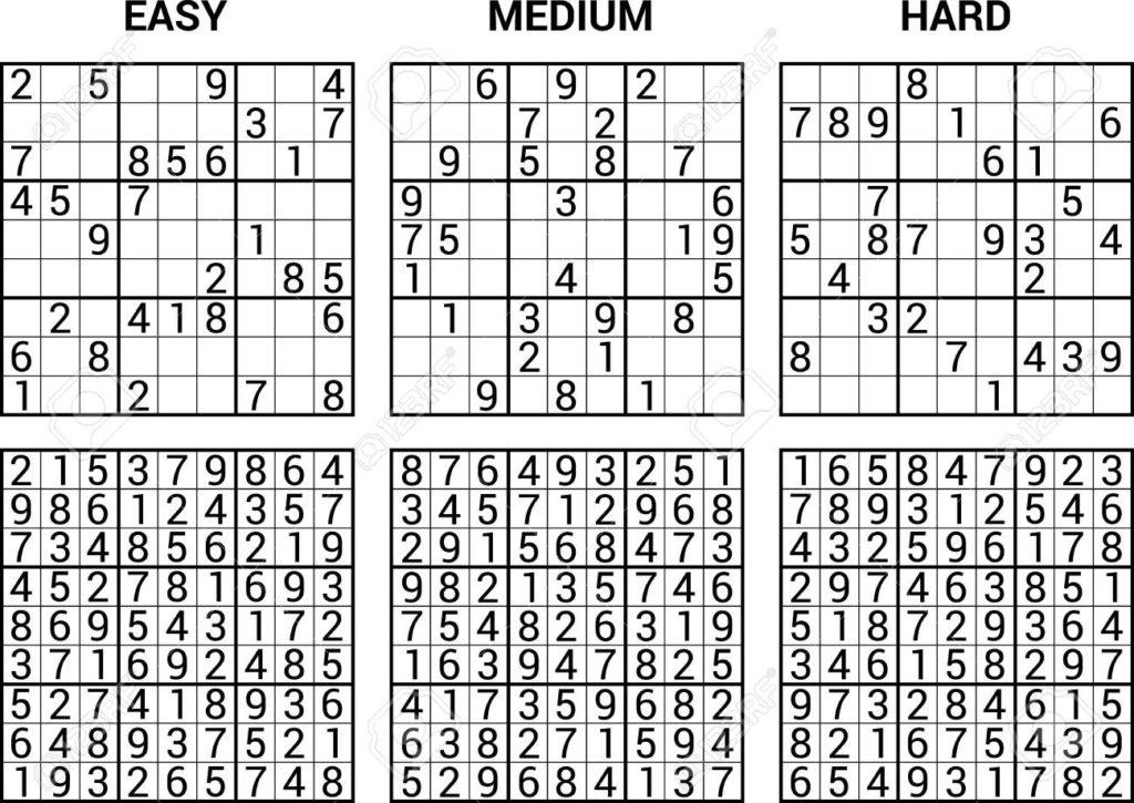 Easy Sudoku Printables With Answers Sudoku Printable
