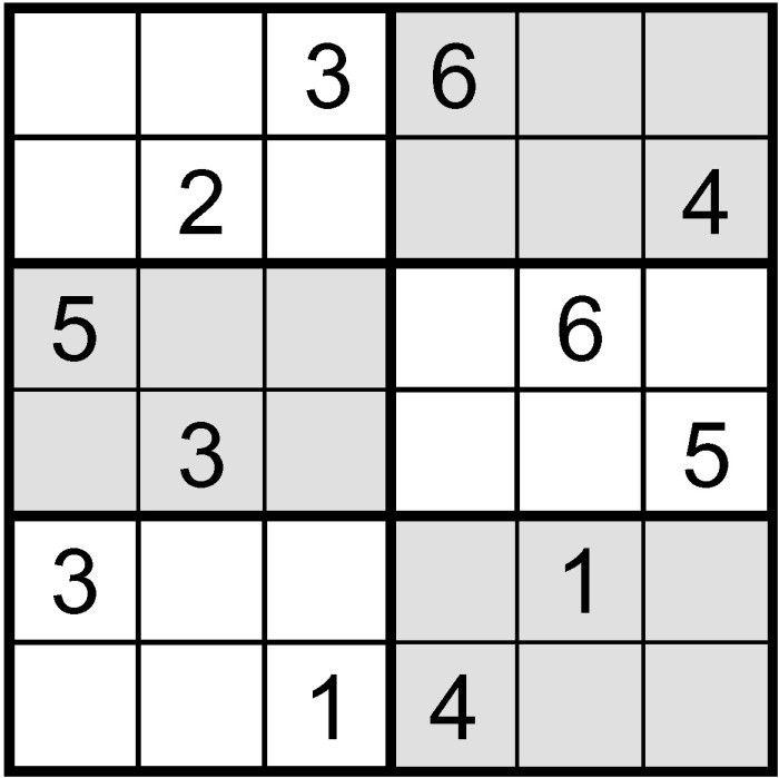 Sudoku Printable 6x6