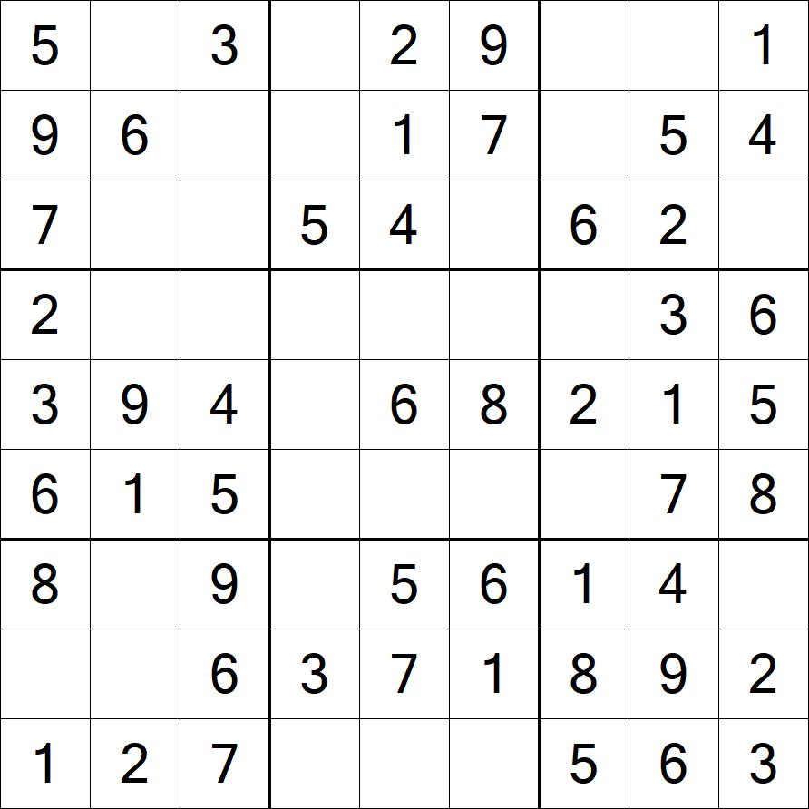 Very Easy Sudoku Printable
