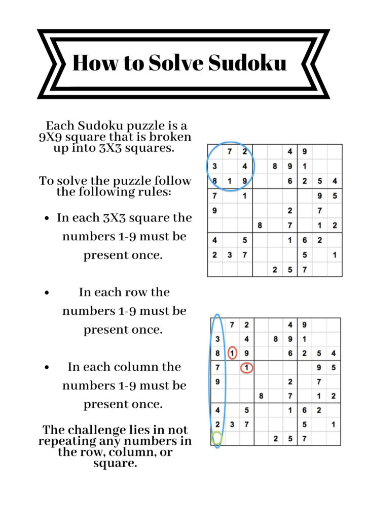Easy To Follow Instructions For Solving Sudoku Puzzles