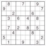 Expert Sudoku Printable Printable Template Free