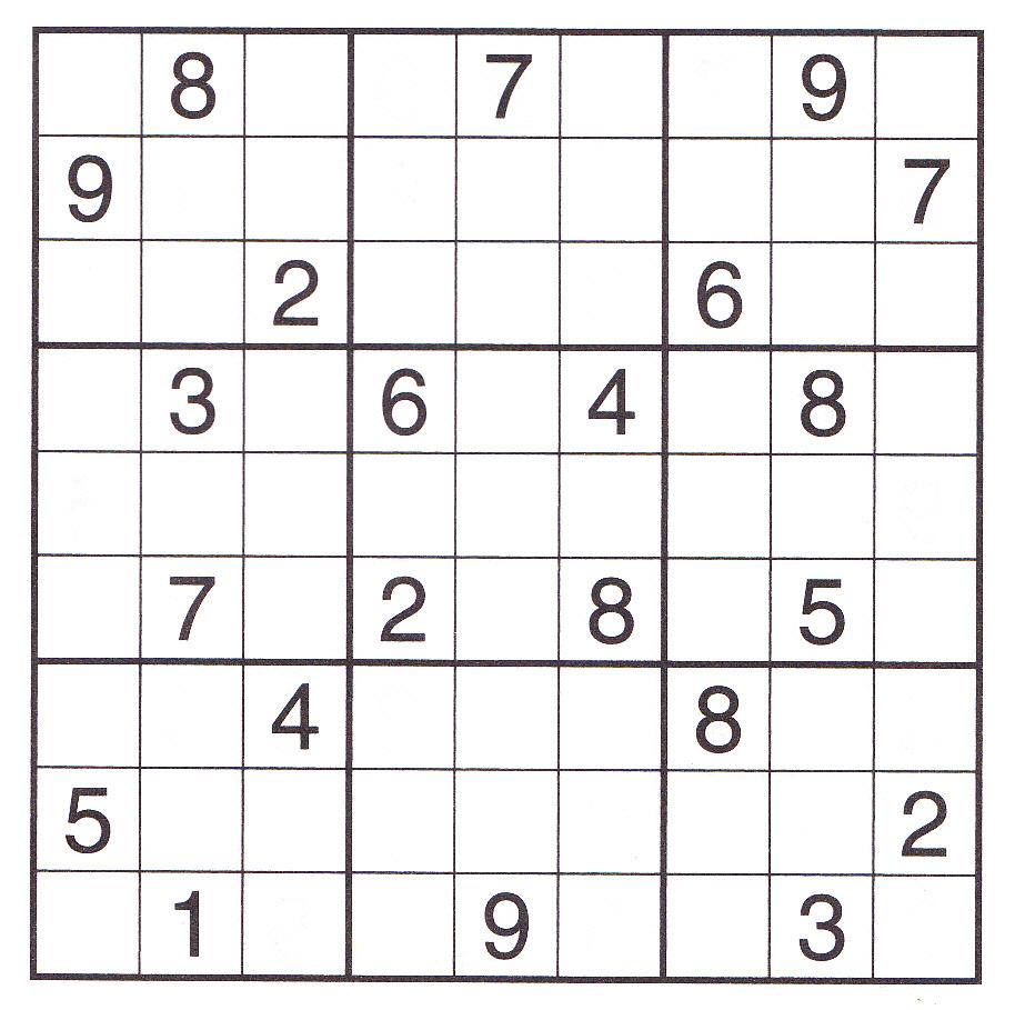 Free Printable Expert Sudoku Puzzles