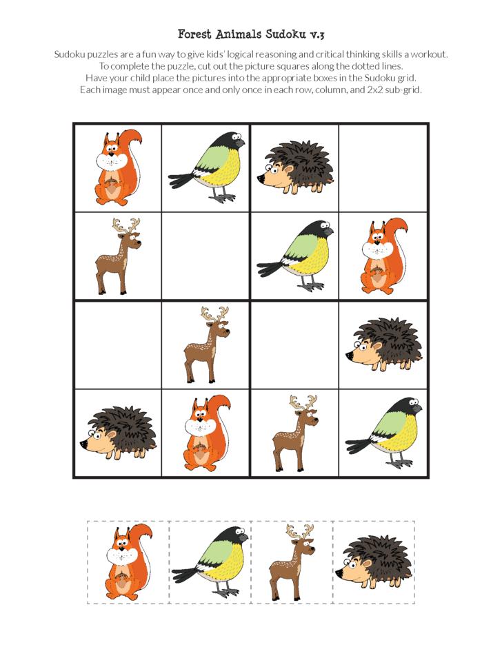 Animal Sudoku Printable