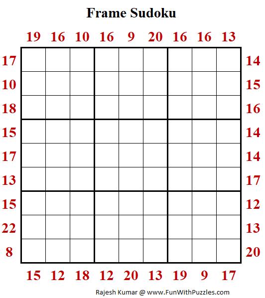 Frame Sudoku Printable
