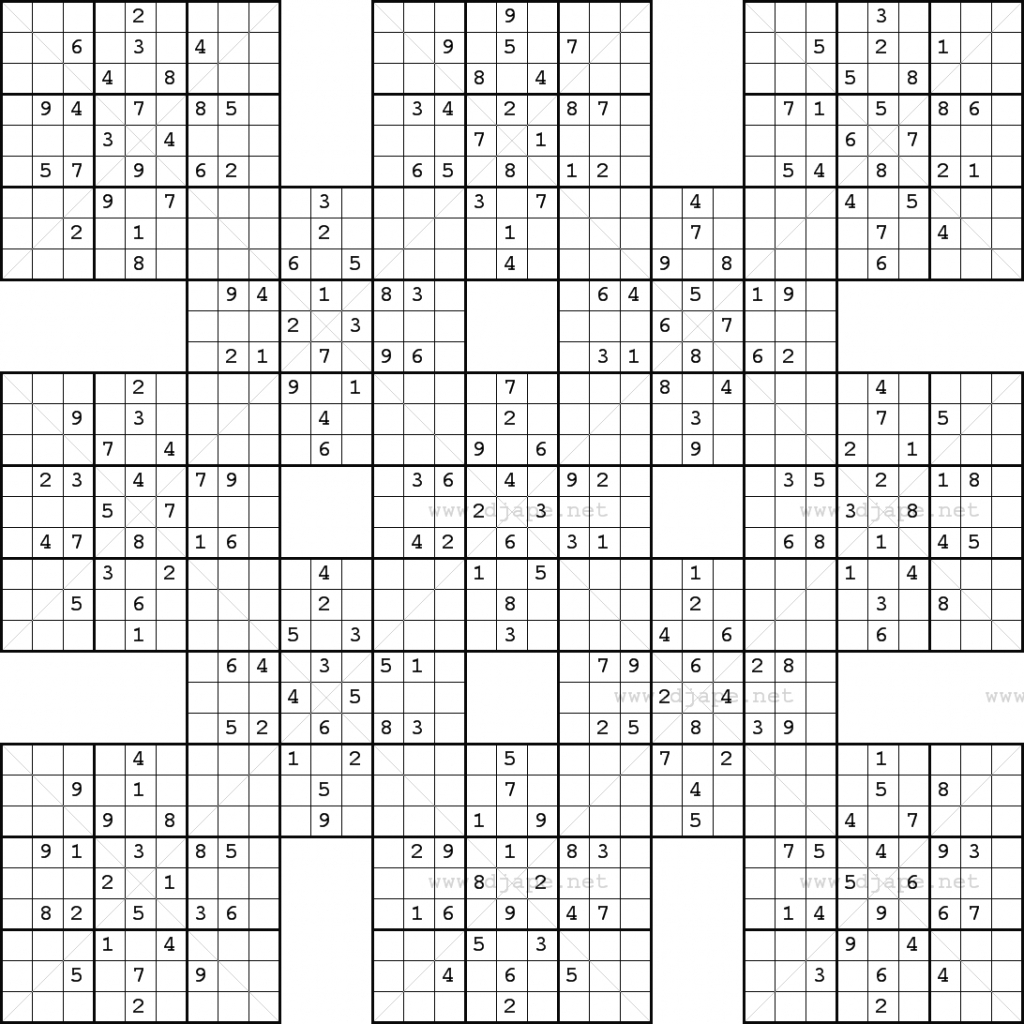Free Large Printable 16 16 Sudoku Puzzles Sudoku Printable