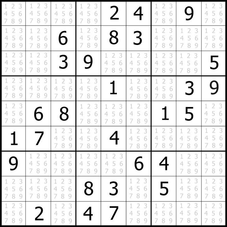 Medium Sudoku Puzzles Printable