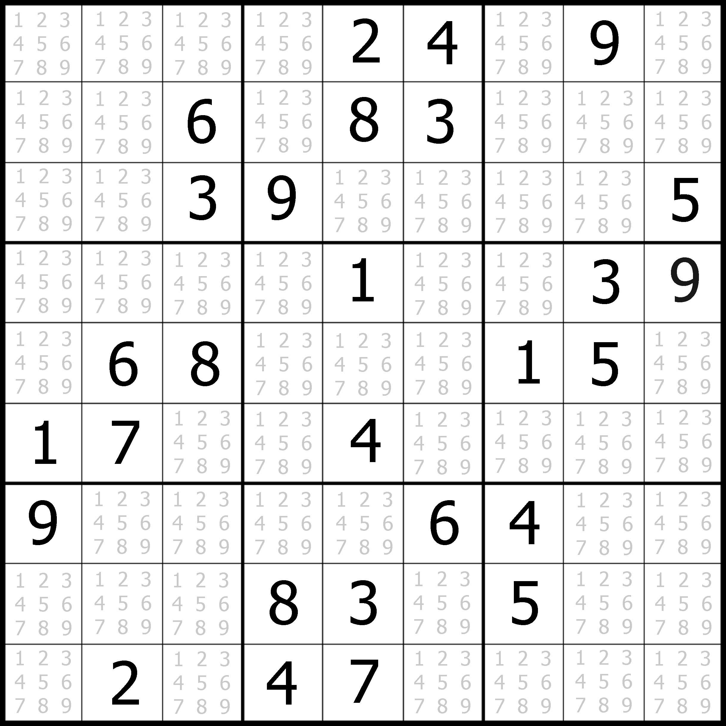 Medium Printable Sudoku Print