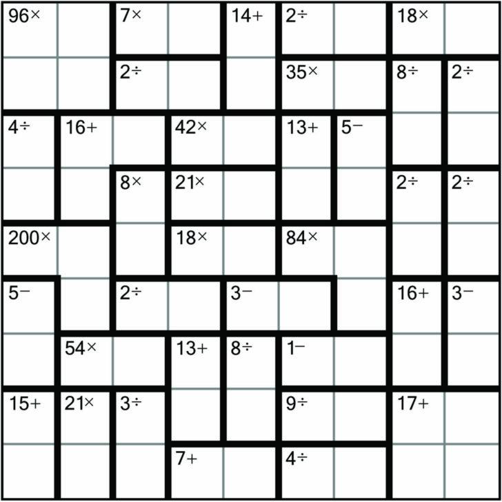 Sudoku 9×9 Printable