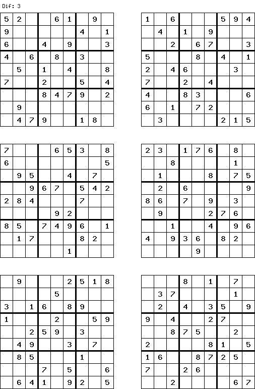 Free Printable Sudoku Puzzles 6 Per Page