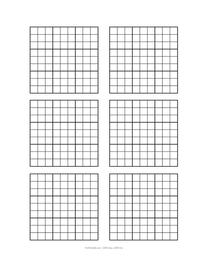 Sudoku Blank Printable Grids
