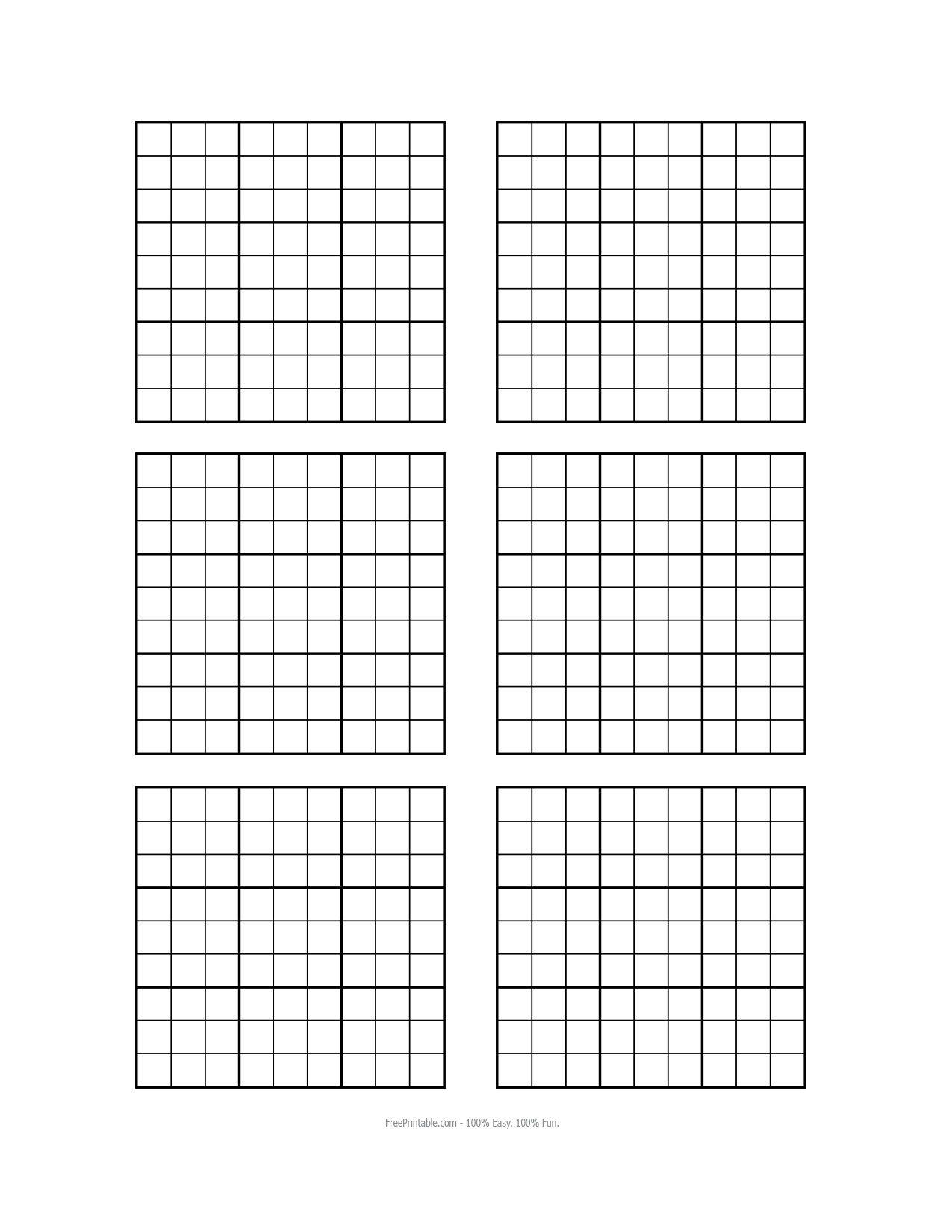 Sudoku Blank Grids Printable Free