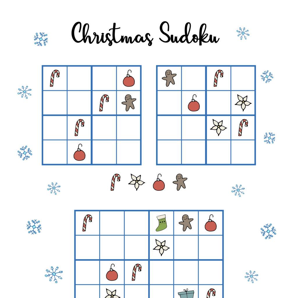 Free Printable Holiday Sudoku Sudoku Printable