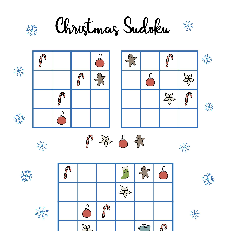 Holiday Sudoku Printable