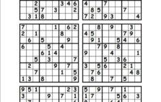 Free Printable Sudoku 6 Per Page Pdf Sudoku Printable