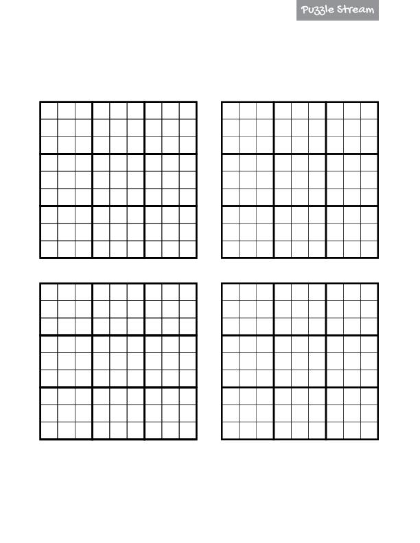 Sudoku Printable 4 Per Page