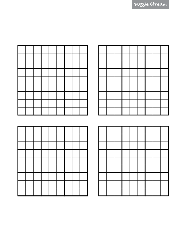 Free Printable Sudoku Four Per Page