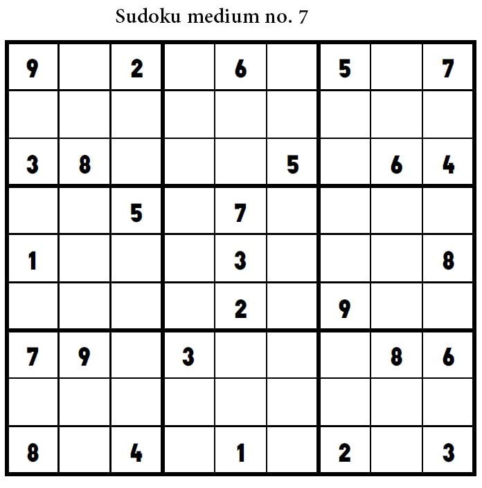 Free Printable Sudoku Medium