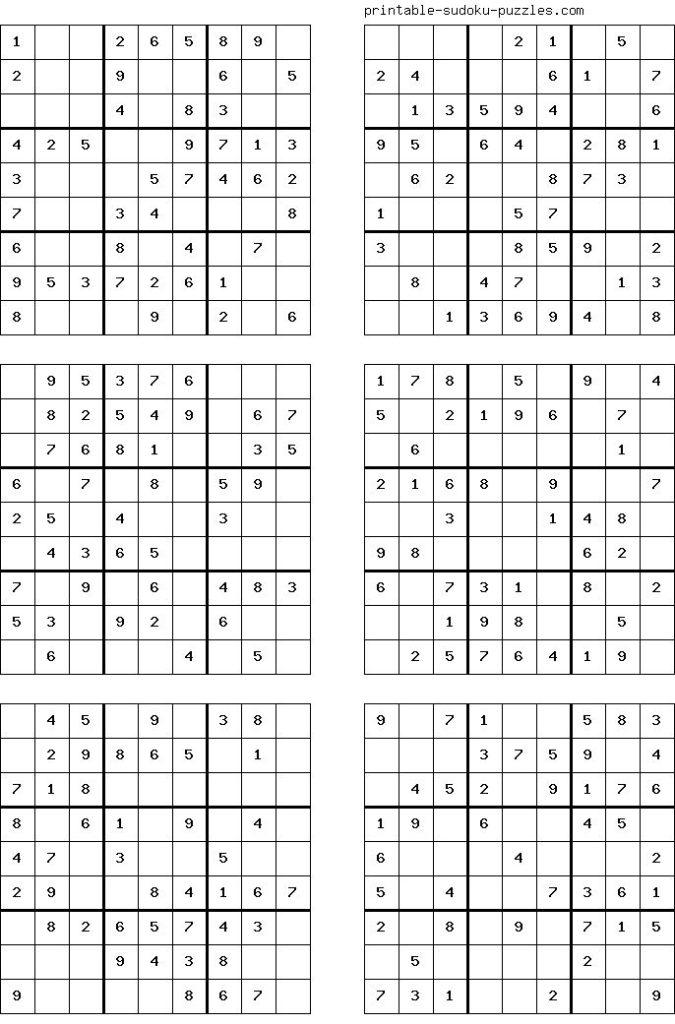 Free Printable Sudoku Puzzles For Kids Sudoku Printable