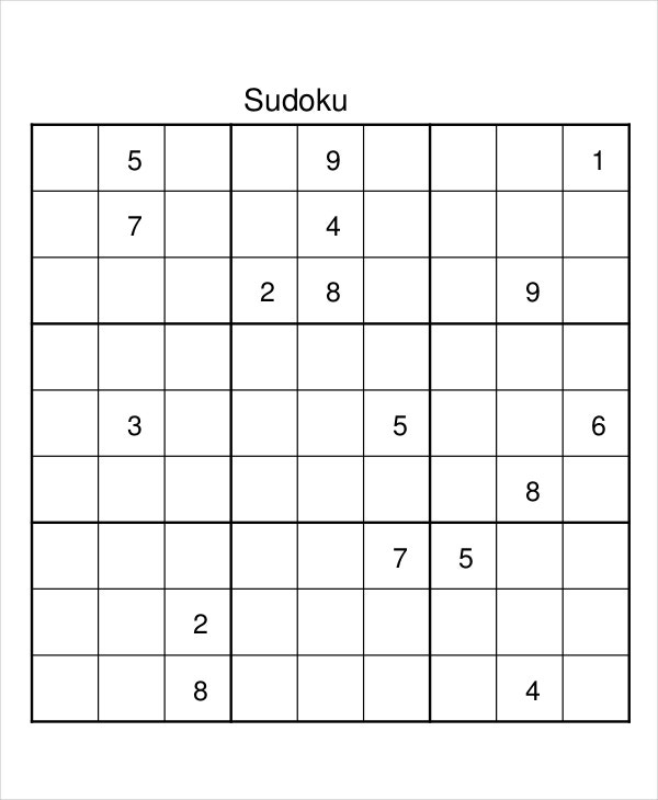 Sudoku Download Printable