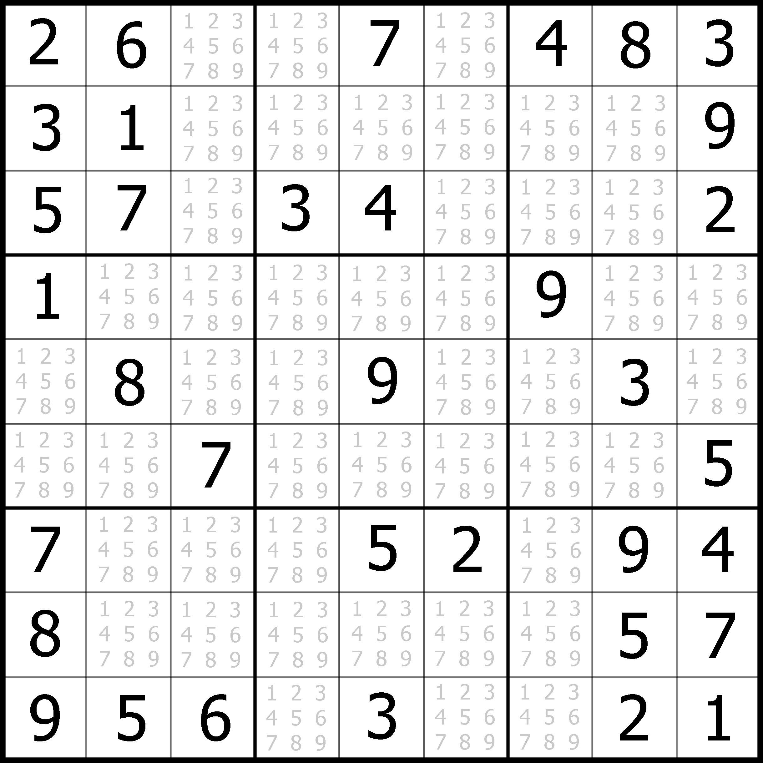 Sudoku Printable With Answers Pdf