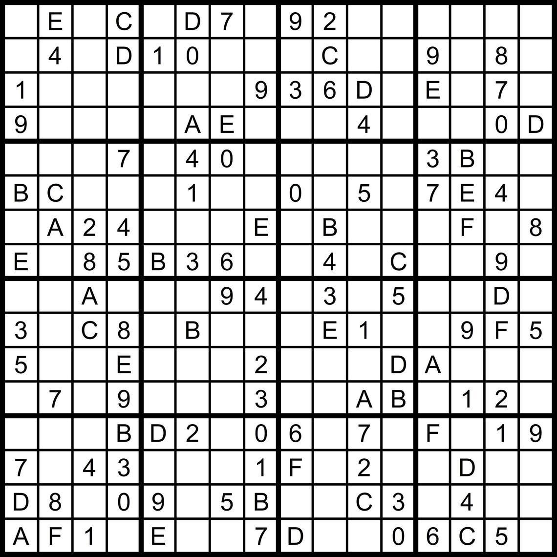 Free Printable Sudoku Challenger Puzzles