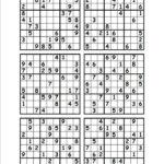 Free Sudoku Printable 6 Per Page Sudoku Printable