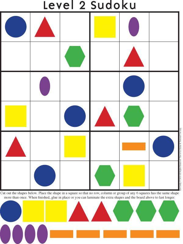 Printable Shape Sudoku