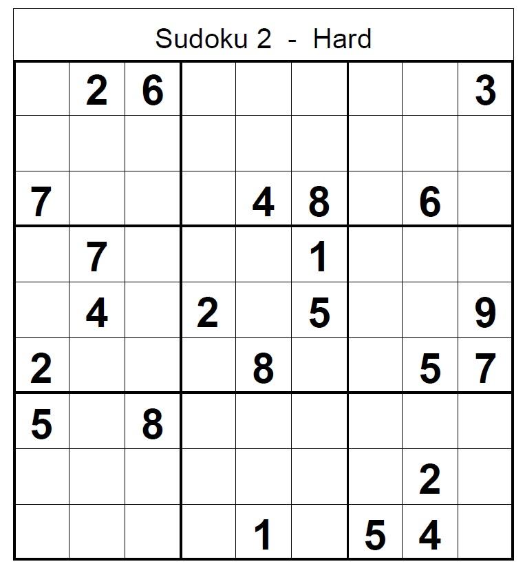 Tough Sudoku Printable