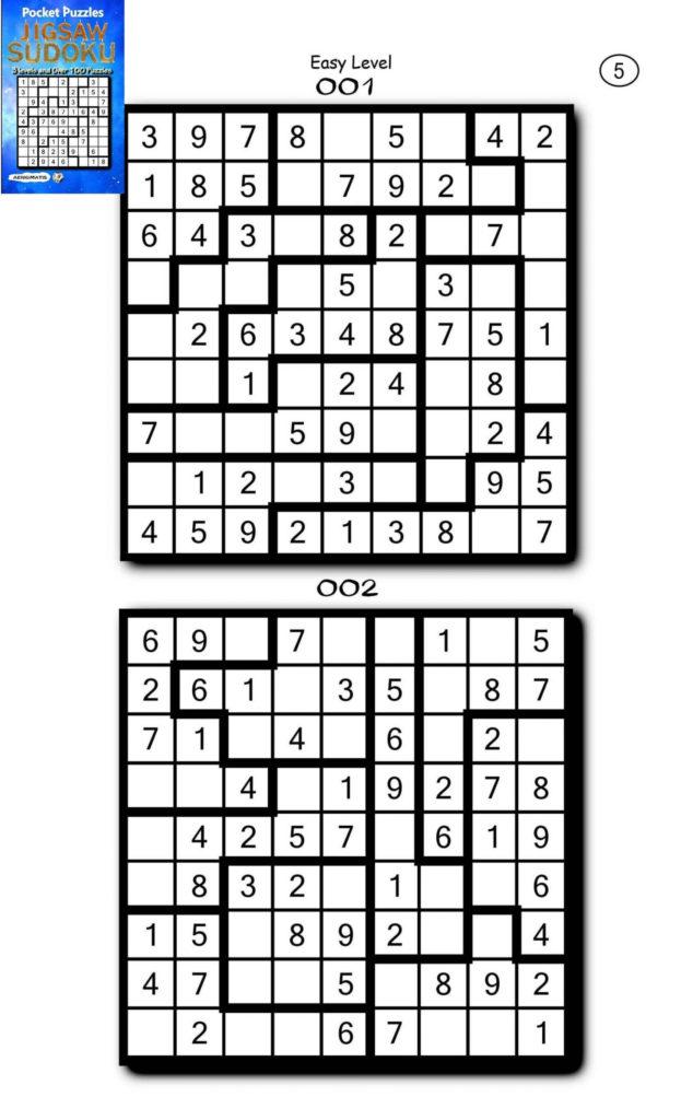 Jigsaw Sudoku Printable Puzzles Sudoku Printable