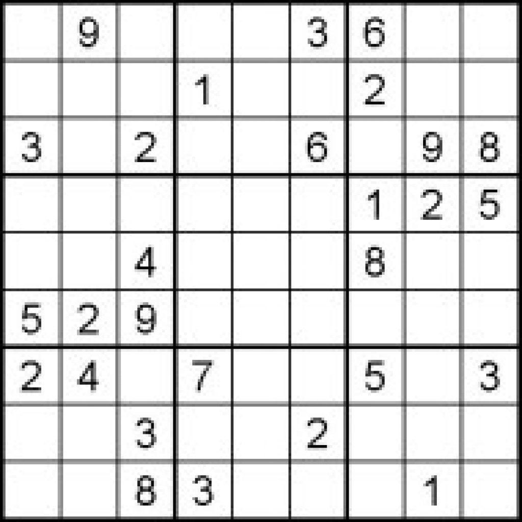 Jumbo Sudoku Printable Printable Template Free