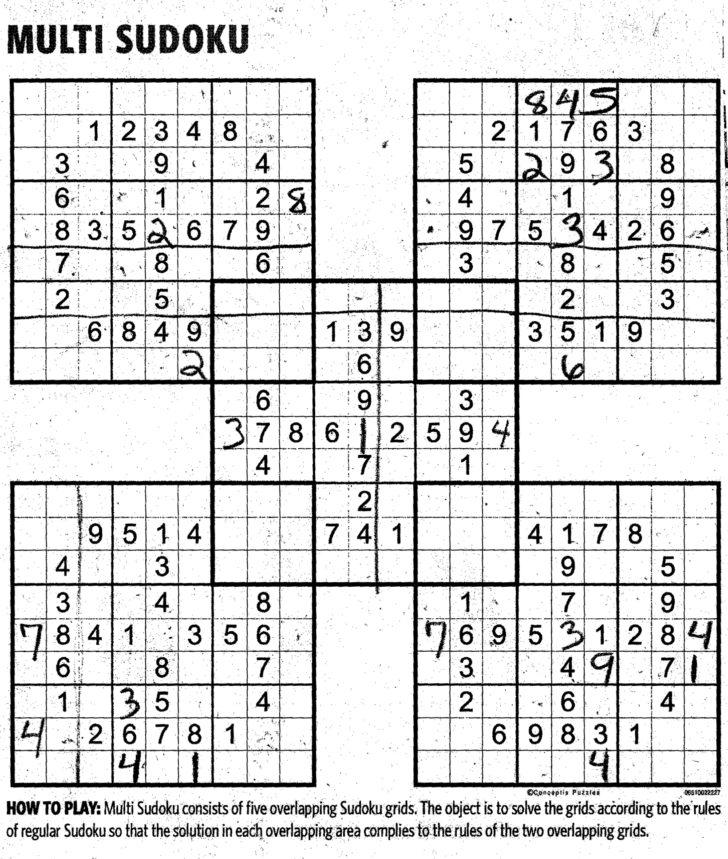 Jumbo Sudoku Printable