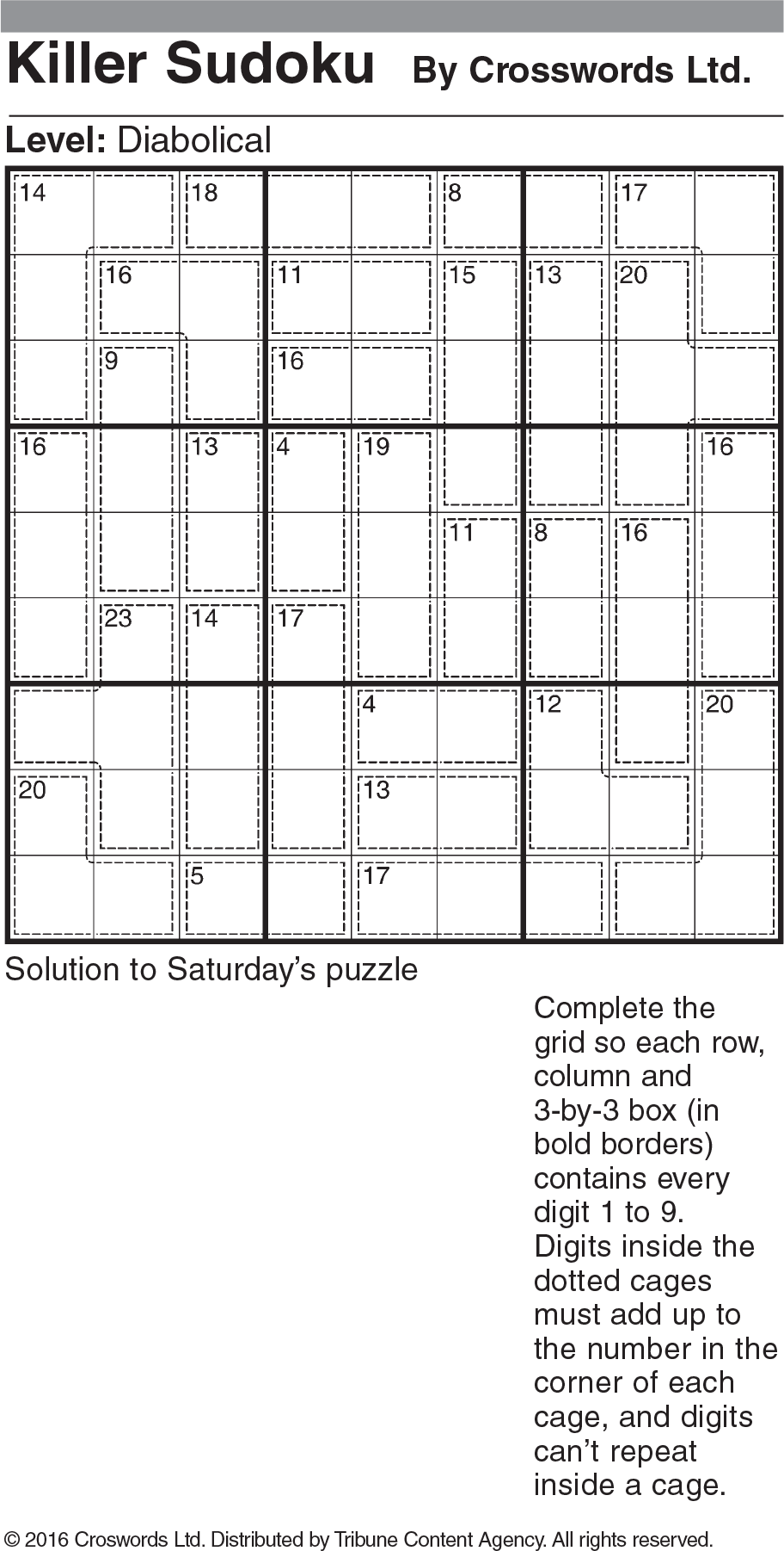 Diabolical Sudoku Printable