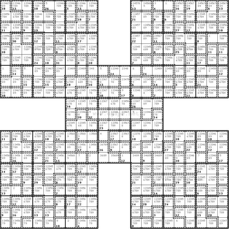 Killer Samurai Sudoku Printable
