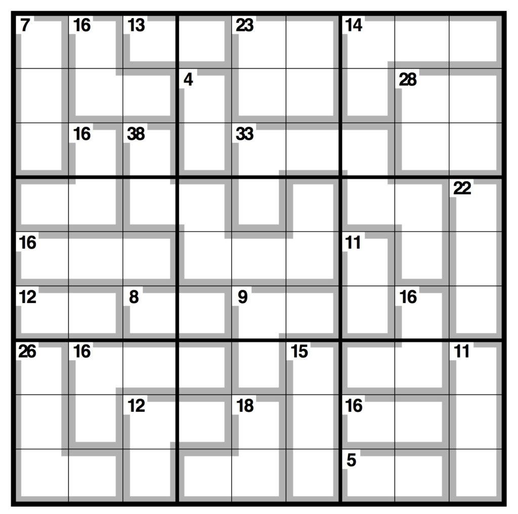 Killer Sudoku Free Printable Free Printable A To Z