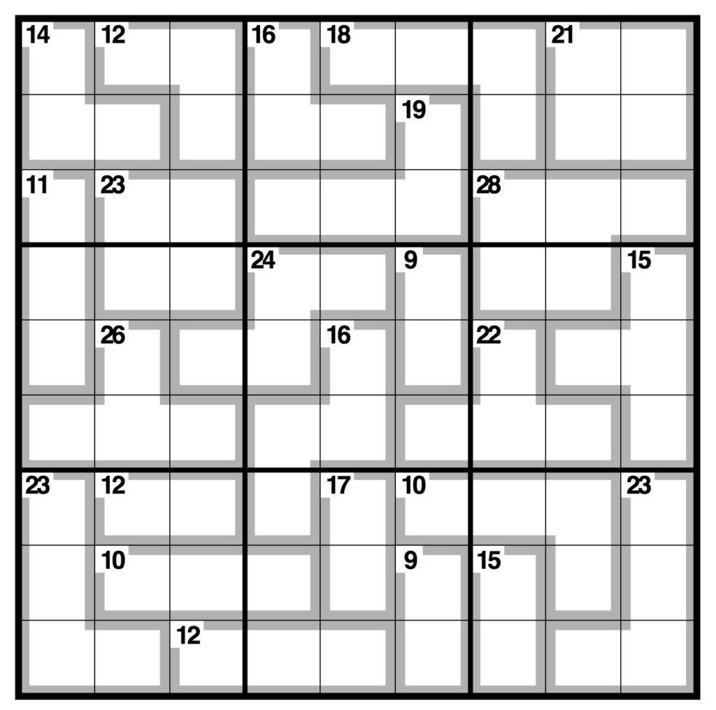 Killer Sudoku Printable Easy Sudoku Printable