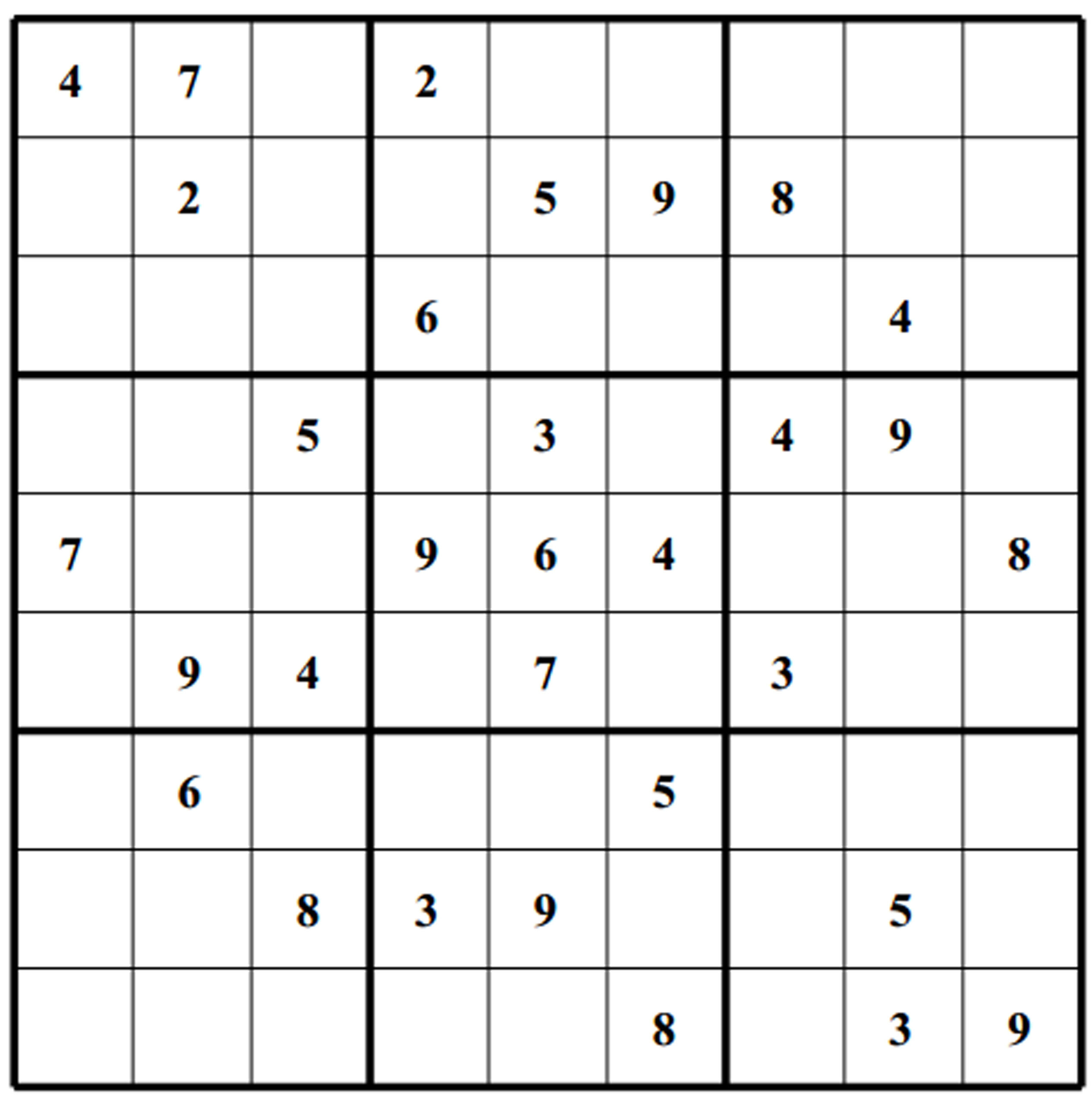 Medium Hard Sudoku Printable