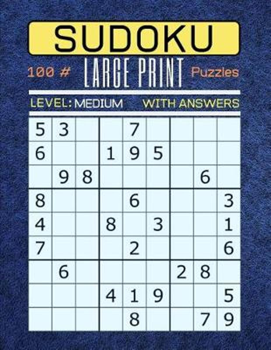 Large Print Medium Level Sudoku Printable