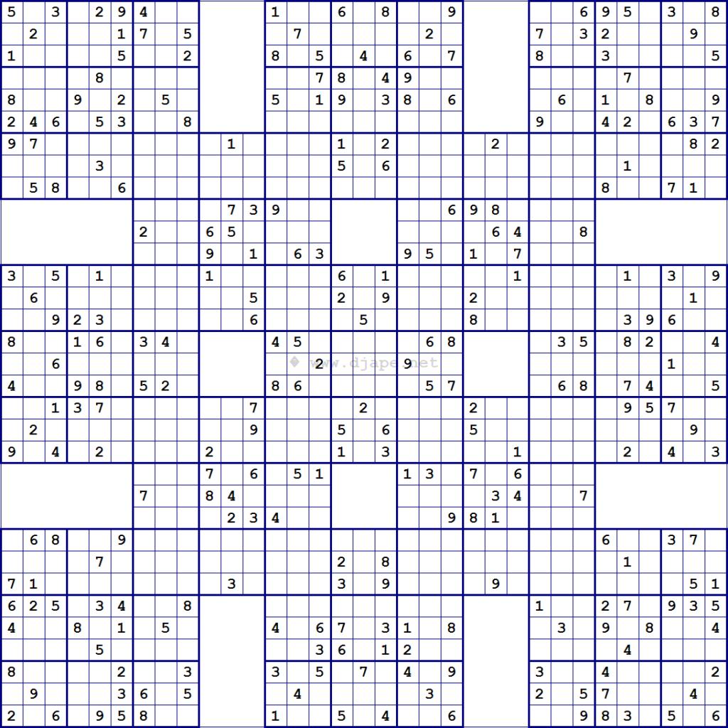 Mega Sudoku 16X16 Para Imprimir Printable Template Free