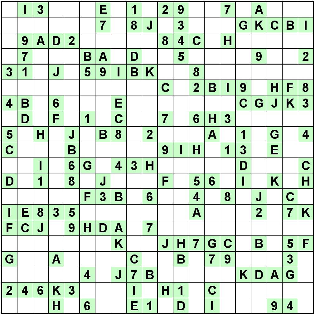 Mega Sudoku 16x16 Printable