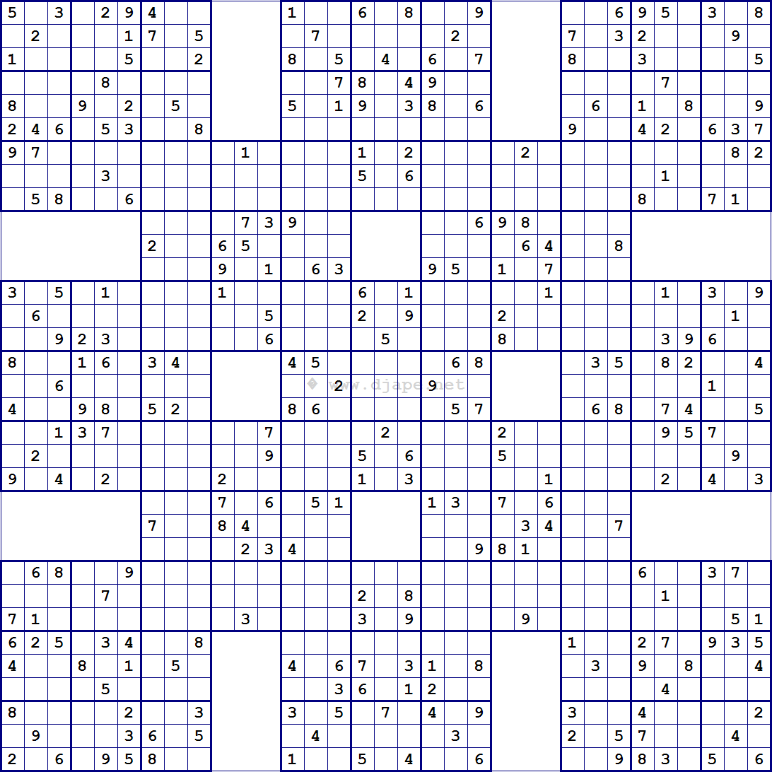 Free Printable Mega Sudoku