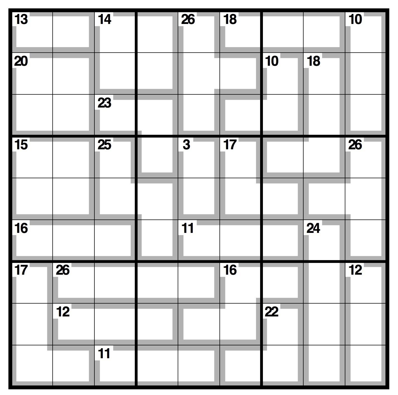 Free Printable Killer Sudoku