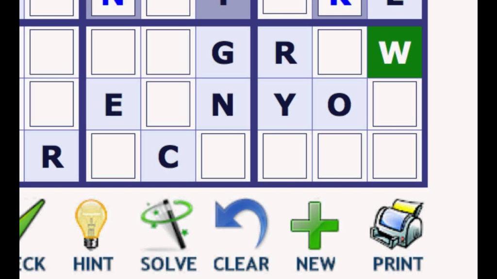 Play Word Sudoku At Wordplays YouTube