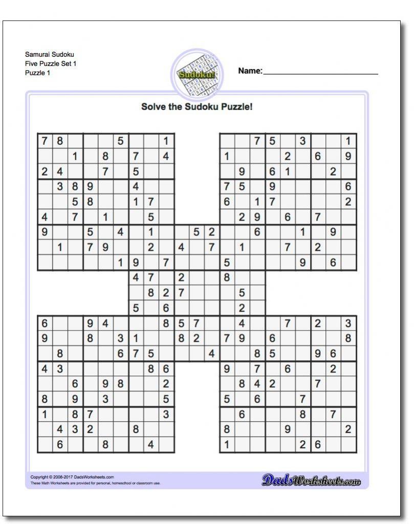 Sudoku 5x5 Printable