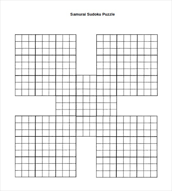 Samurai Sudoku Printable Pdf