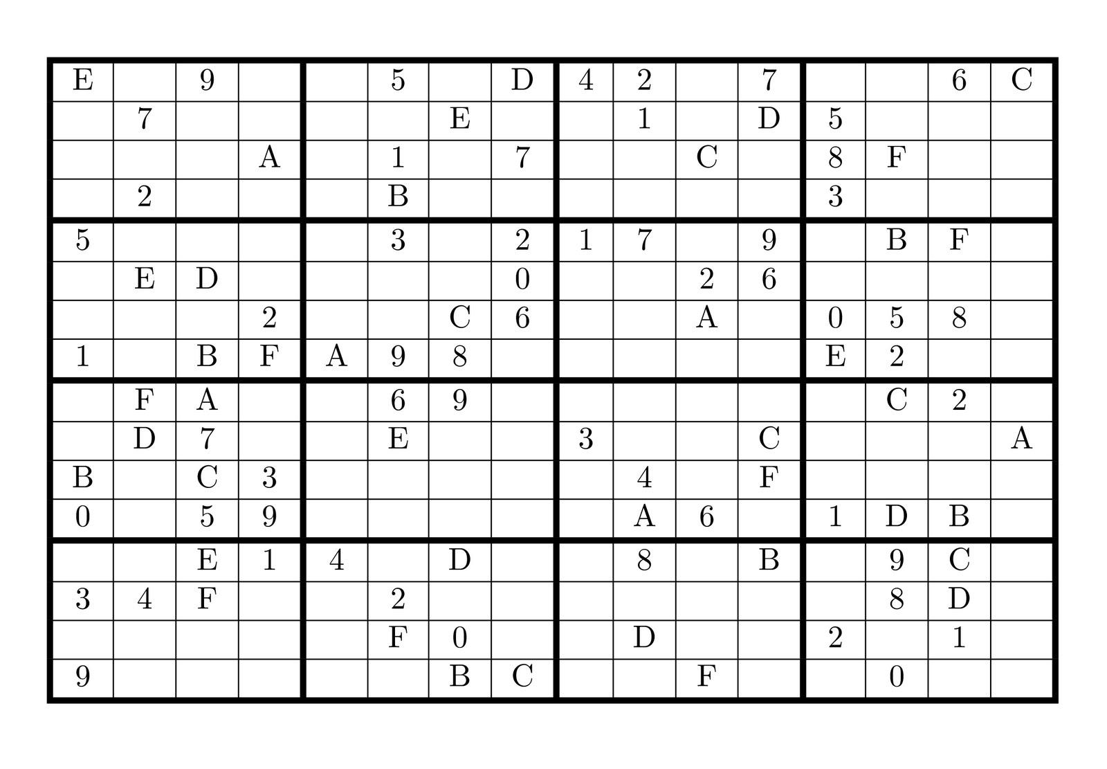 Printable Sudoku Puzzles Com Solutions