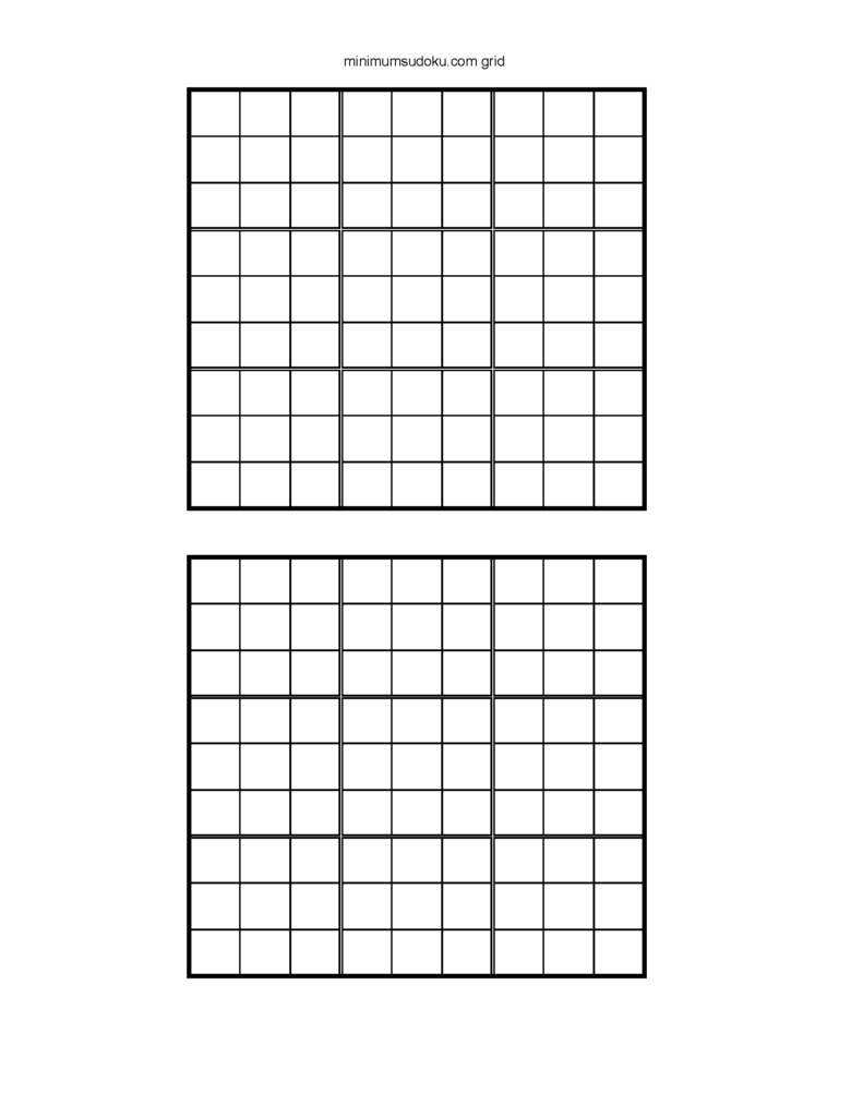 Printable Blank Sudoku Grids 2 Per Page Sudoku Printable