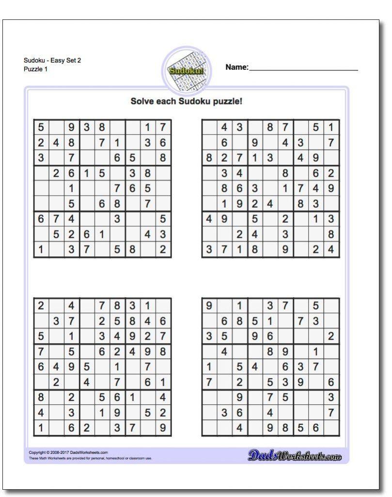 Math Sudoku Printable