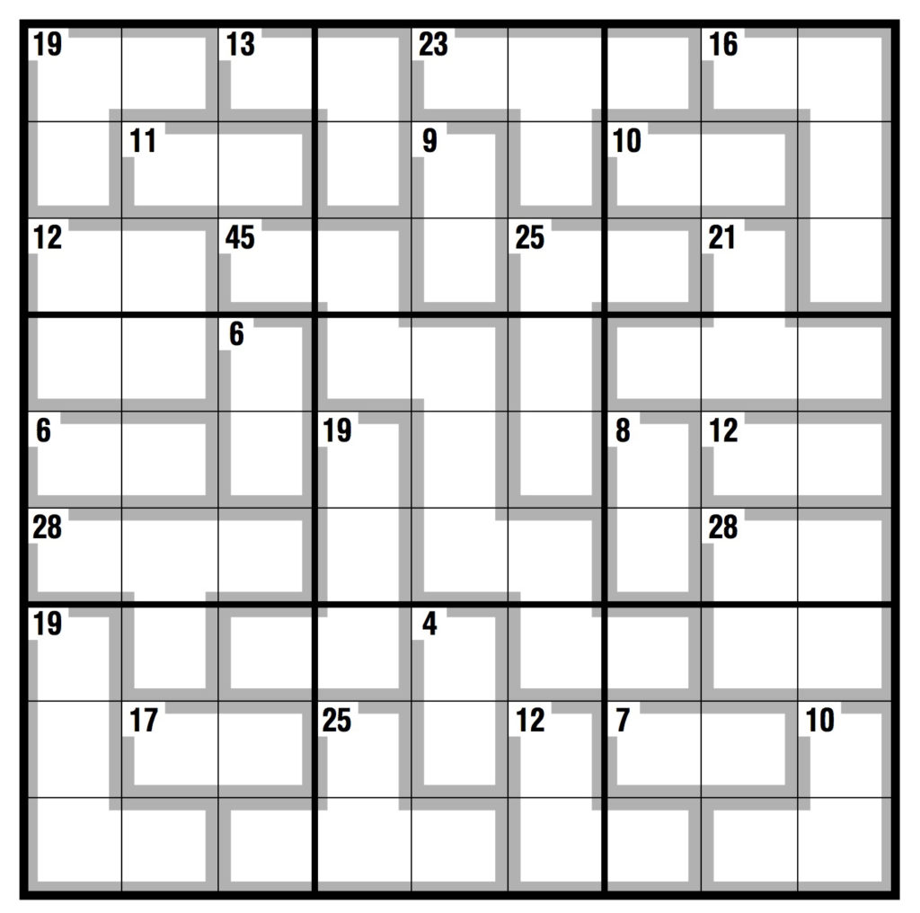 Printable Killer Sudoku Puzzles Free Sudoku Printable