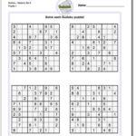 Printable Medium Sudoku Https Www Dadsworksheets